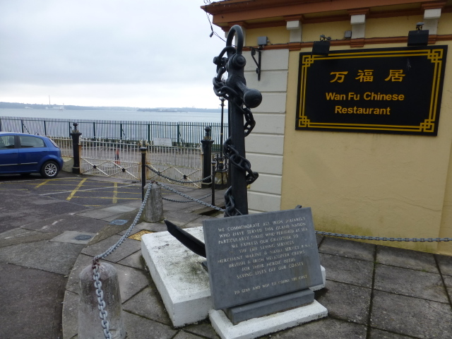 Anchor and plaque, Cobh