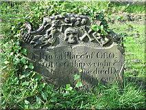 NZ2564 : All Saints Church, Pilgrim Street - gravestone in churchyard by Mike Quinn