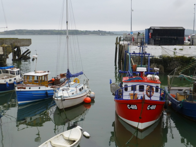 Small boats in Cobh harbour