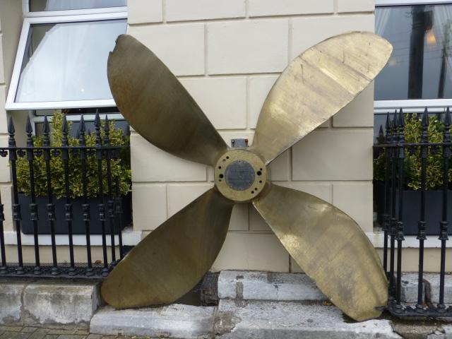 Large ship propeller, Cobh