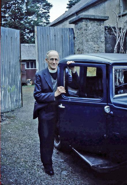 Reverend Robert Hamilton Whelan says goodbye to his car