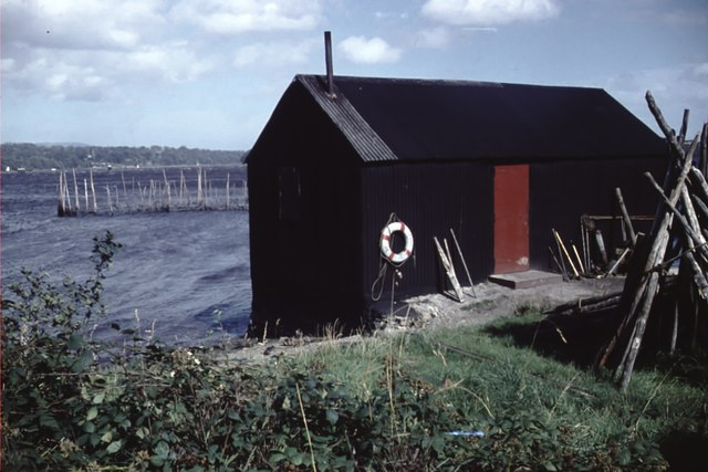 Boathouse on the edge of the River Foyle 1960ish