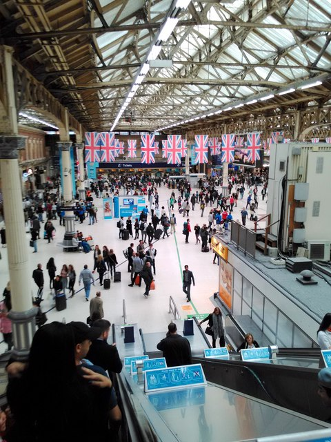 Union Jack Flags at Victoria Station