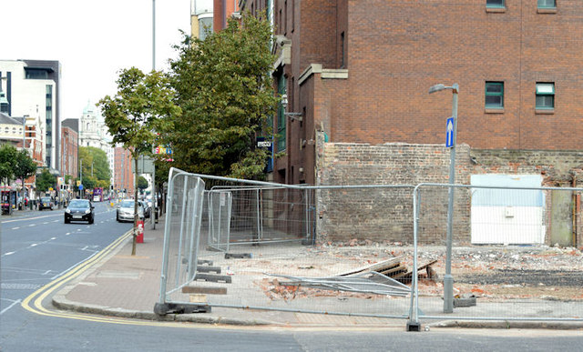 Gt Victoria Street Baptist church, Belfast (site of) - September 2014(2)