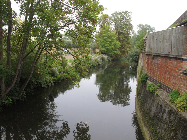 Cherwell mill cut backwater from St Catherine's College bridge