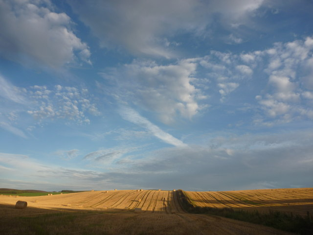 East Lothian Landscape : Shadow And Light Near Carfrae