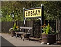 SE0053 : Embsay Station sign by Julian Osley