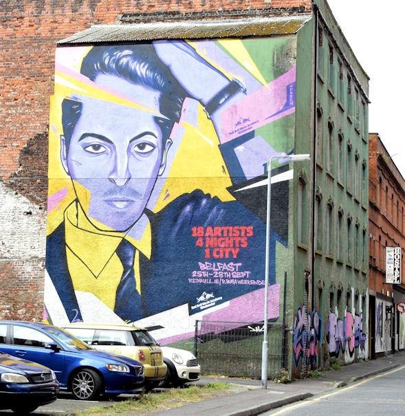 Red Bull Music Academy mural, Belfast - September 2014(1)