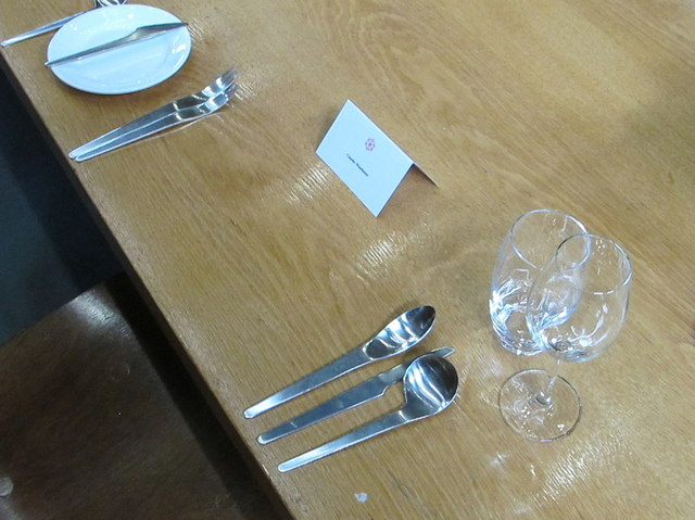 Arne Jacobsen cutlery, St Catherine's College Oxford