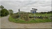 SK1158 : Beresford Lane at crossroads by Harecops farm by Chris Morgan