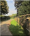 ST7583 : Churchyard wall, Little Sodbury by Derek Harper