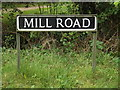 TM2588 : Mill Road sign by Adrian Cable