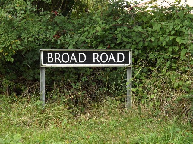 Broad Road sign