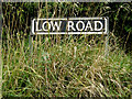 TM2291 : Low Road sign by Adrian Cable