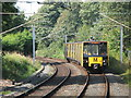 NZ3571 : Lines west of Whitley Bay Metro station by Mike Quinn