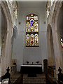 TM2291 : Altar & Stained Glass Window of St.Mary's Church by Adrian Cable