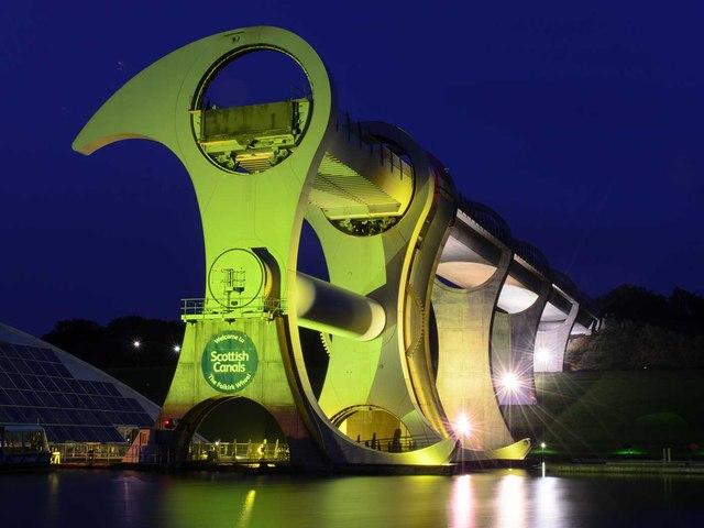 The Falkirk Wheel at Night