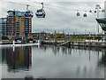 TQ4080 : Cable Car Across the Thames, London by Christine Matthews