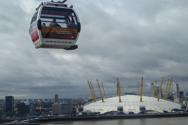 Cable Car and O2 Centre, London