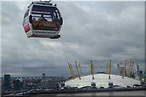 TQ3980 : Cable Car and O2 Centre, London by Christine Matthews