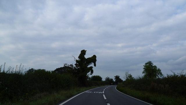Scene on the Shrewsbury to Ellesmere road