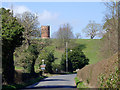 SO7595 : Lane approaching Worfield, Shropshire by Roger  Kidd