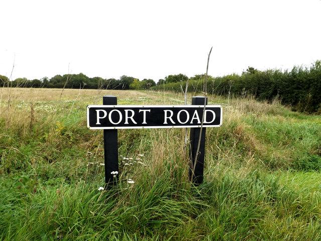 Port Road sign