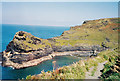 SX0991 : Geological waymark-Boscastle, Cornwall by Martin Richard Phelan