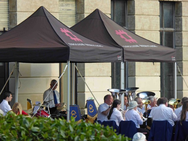 Oughtibridge brass band in concert at Brodsworth Hall