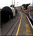 SZ3395 : Station platform at Lymington Pier by Jaggery