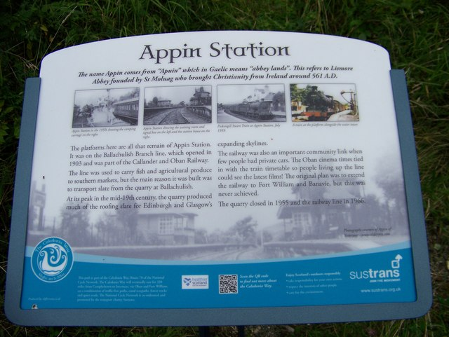 Appin Station - tourist information board