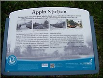 NM9247 : Appin Station - tourist information board by Elliott Simpson