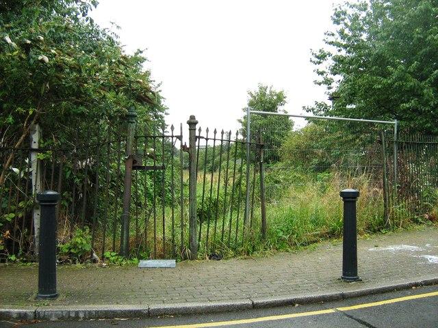 Allotment gardens, disused