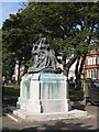 NZ3669 : Statue of Queen Victoria, public gardens, Manor Road, NE30 by Mike Quinn