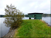 H5776 : Causeway to boathouse, Loughmacrory Lough by Kenneth  Allen