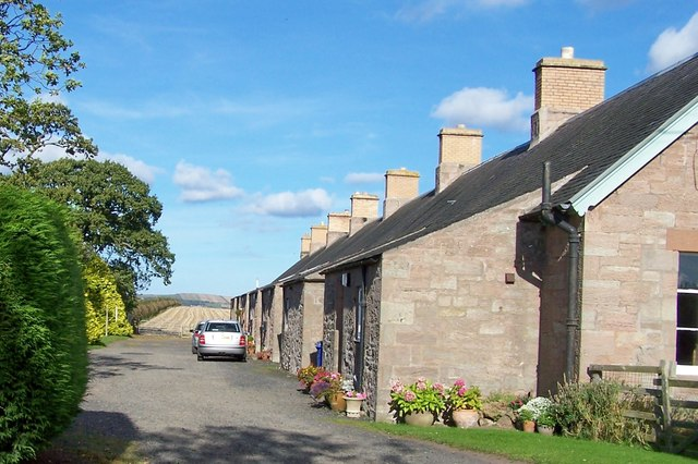 Stone cottages near Horncliffe, Northumberland