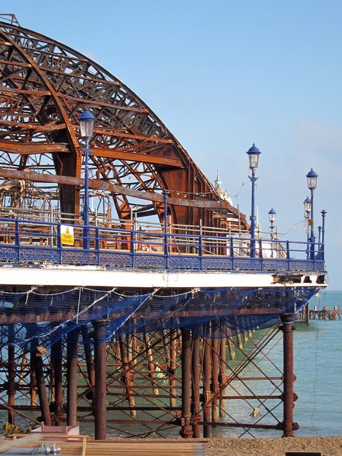 Eastbourne Pier damage