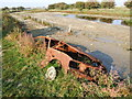 TQ7175 : Remains of an abandoned Vauxhall, Higham Marshes by Chris Whippet
