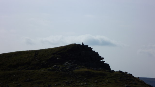 Summiteer on Crug Hywel on an autumn morning