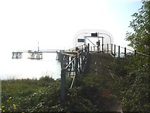 TQ7076 : Jetty by Cliffe Fort by Chris Whippet