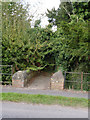 SK7983 : Bridge and gate at Manor Farm by Alan Murray-Rust