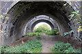TL0154 : Footpath under the railway bridge by Philip Jeffrey