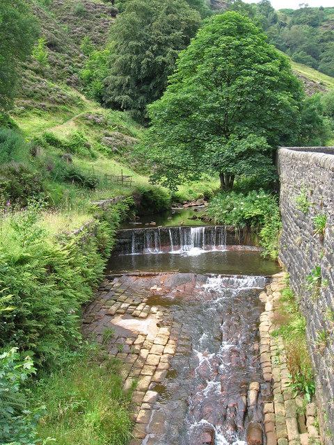 Lydgate - weir at Fiddlers Bridge