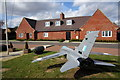 TL0746 : Model plane in front of the Air Cadets building by Philip Jeffrey