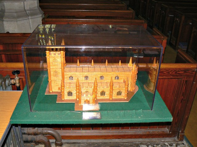Model, St Lawrence's Church, Parsonage Lane, Hungerford