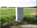TG1534 : Airfield marker stone at RAF Matlask by Evelyn Simak