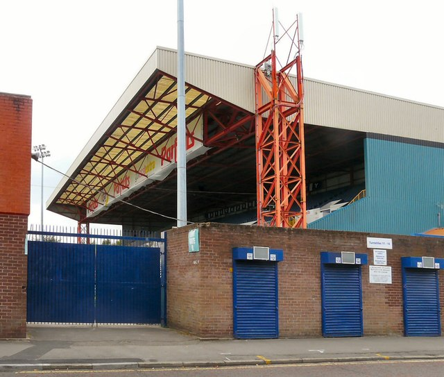 Cheadle End Stand at Stockport County
