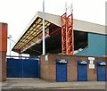 SJ8889 : Cheadle End Stand at Stockport County by Gerald England