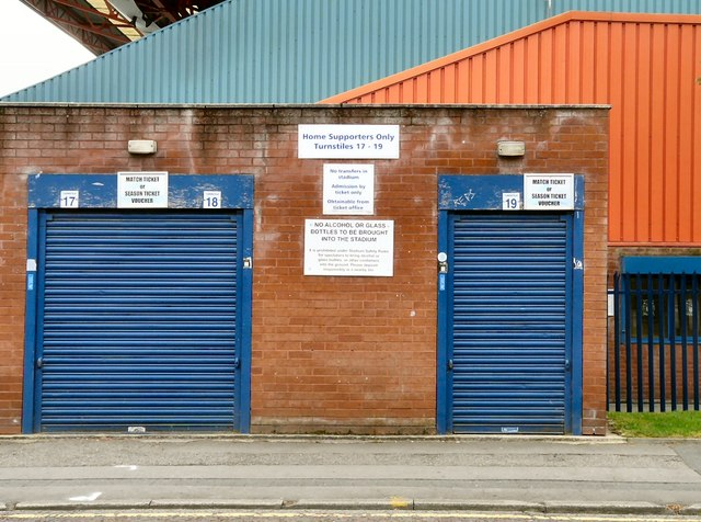 Turnstiles 17 - 19 at Stockport County