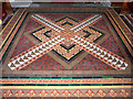 NY2262 : Victorian floor tiles in St Michael's Church by Rose and Trev Clough
